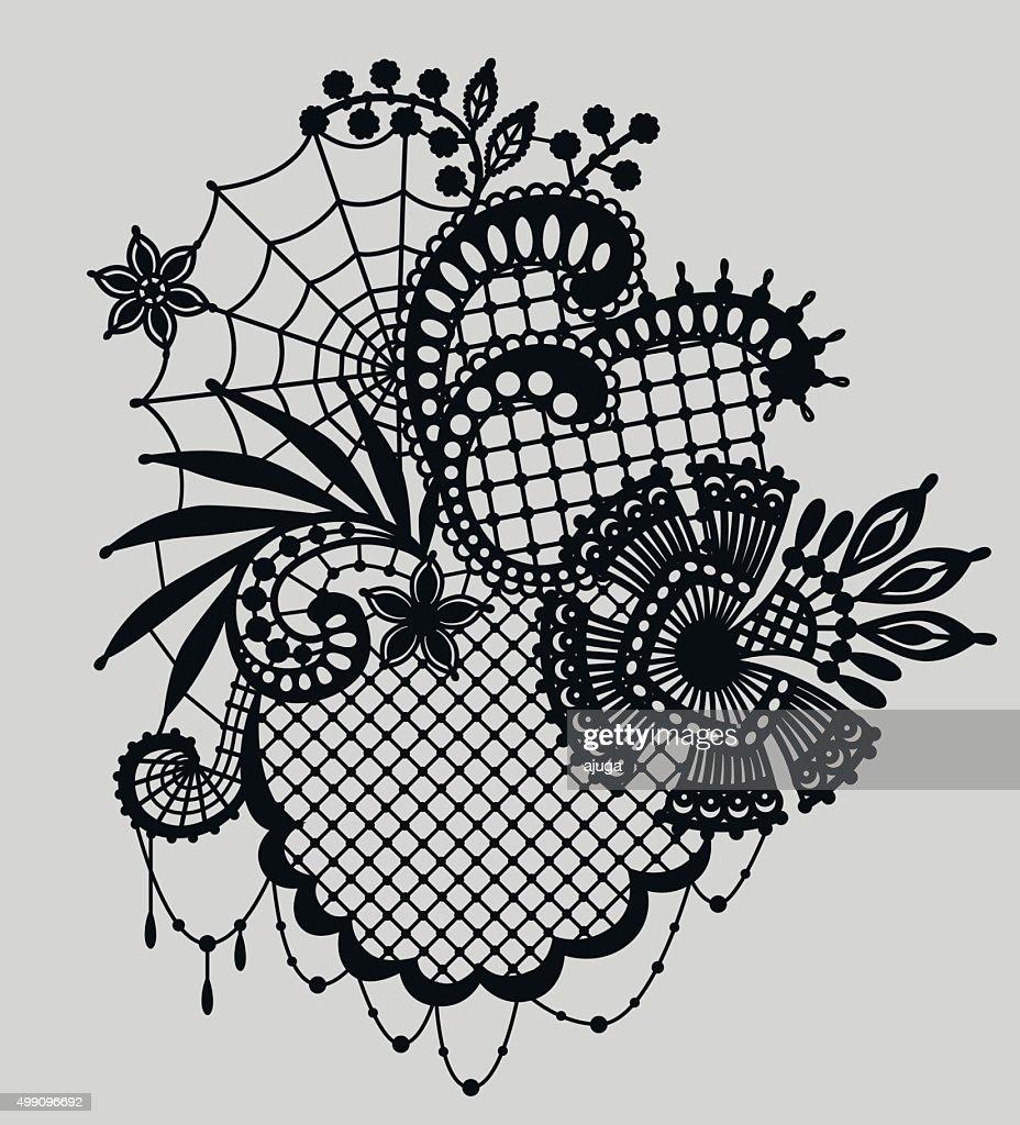 Lace. Clip art.