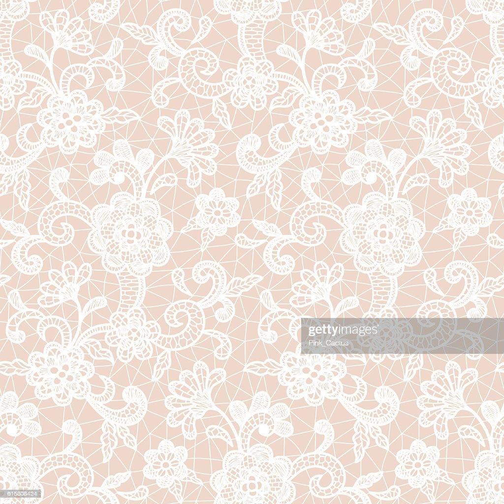 Lace Design with Floral Motifs