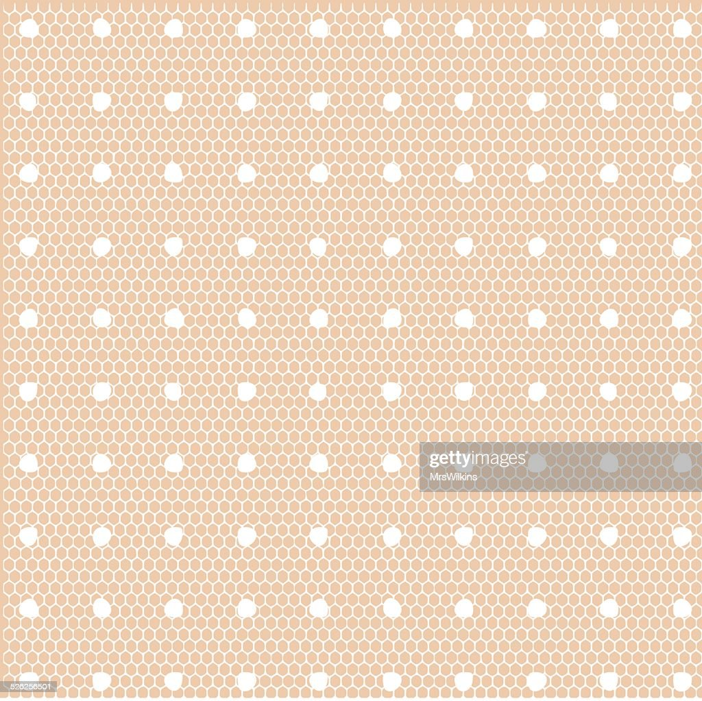 Lace dotted pattern vector illustration