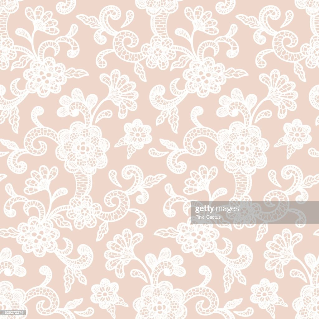 Lace Pattern with Floral Motifs