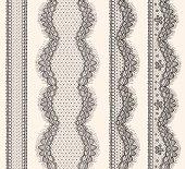 Lace Ribbons Seamless Pattern.