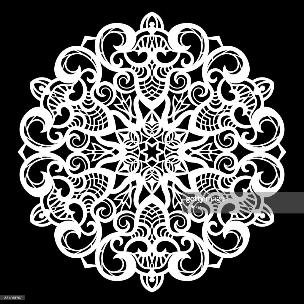 Lace Round Paper Doily Lacy Snowflake Greeting Element Laser Cut ...