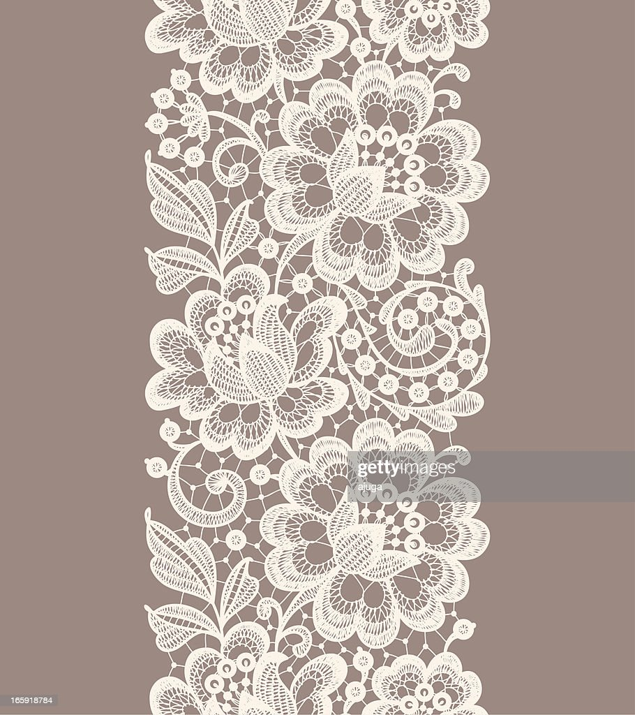 Lace Seamless Pattern. Ribbon.