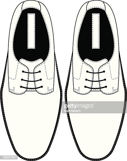 lace up formal shoe template - shoe stock illustrations, clip art, cartoons, & icons