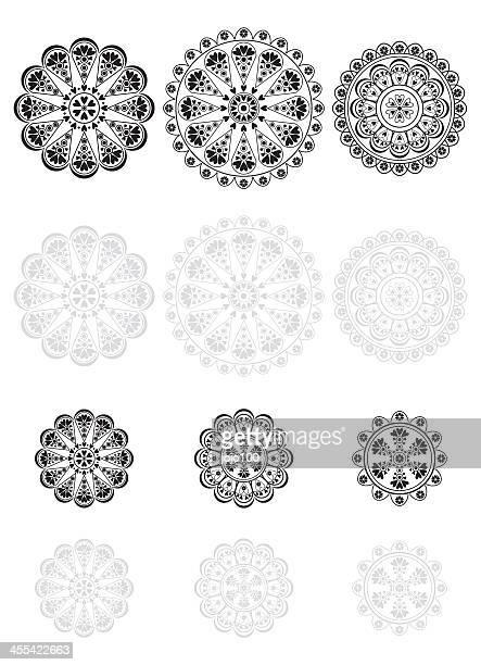 Conjunto de iconos de Vector de encaje