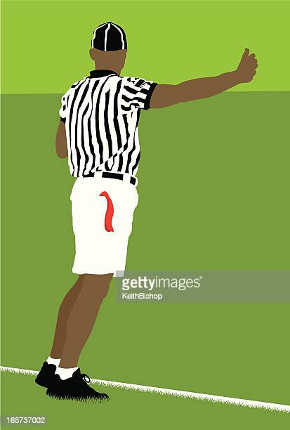 Lacrosse Referee Making Possession Call