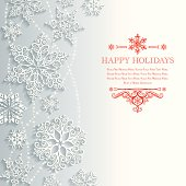 Lacy Snowflake Background