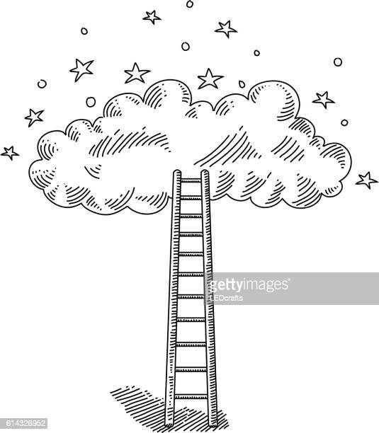 Ladder and Cloud Drawing