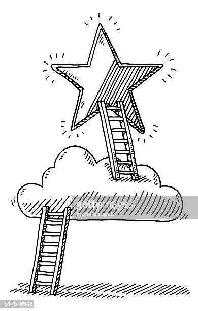 Scala Cloud raggiungere Star disegno
