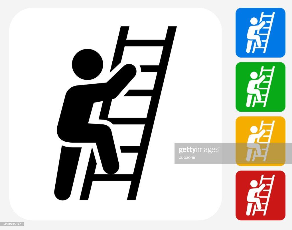 Ladder Of Success Icon Flat Graphic Design
