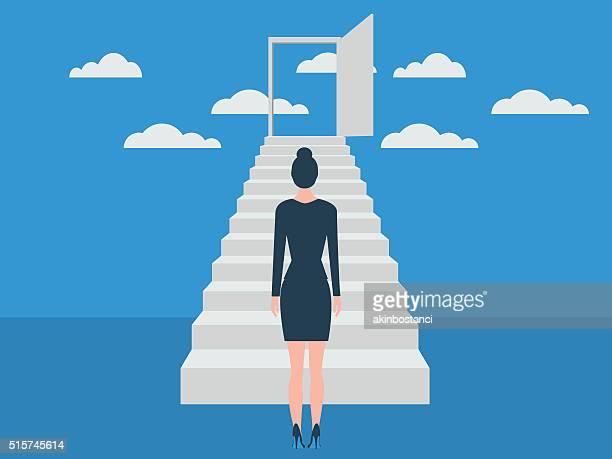 ladder of success - ladder stock illustrations, clip art, cartoons, & icons