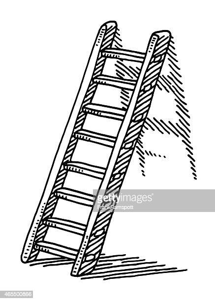 Ladder On A Wall Drawing