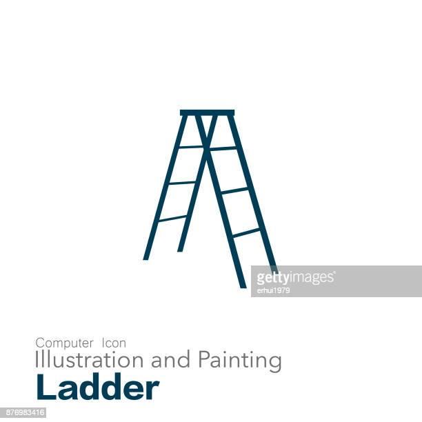 ladder - ladder stock illustrations, clip art, cartoons, & icons