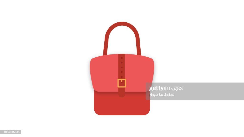 Ladies handbag vector icon : Stock Illustration