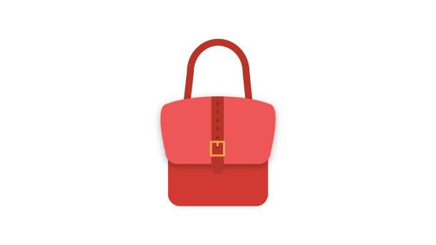 ladies handbag vector icon - femininity stock illustrations