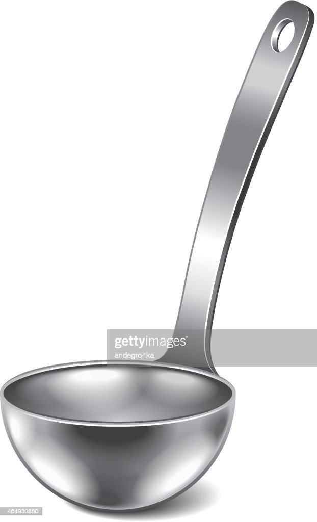 Ladle isolated on white vector