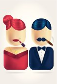Lady and Gentleman Icons set