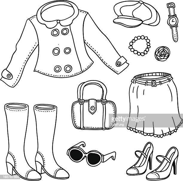 Lady Mode in schwarz und weiß