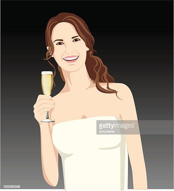 Lady holding a champagne glass