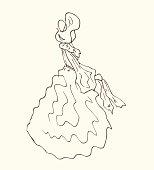 Lady in retro dress