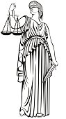 lady justice.Greek goddess Themis.  fair trial.Law.