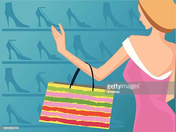 lady shoppin de zapatos