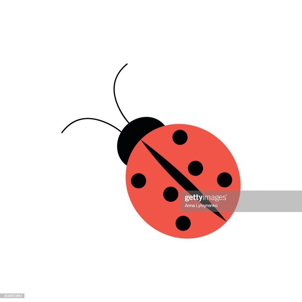 Ladybug icon in flat style