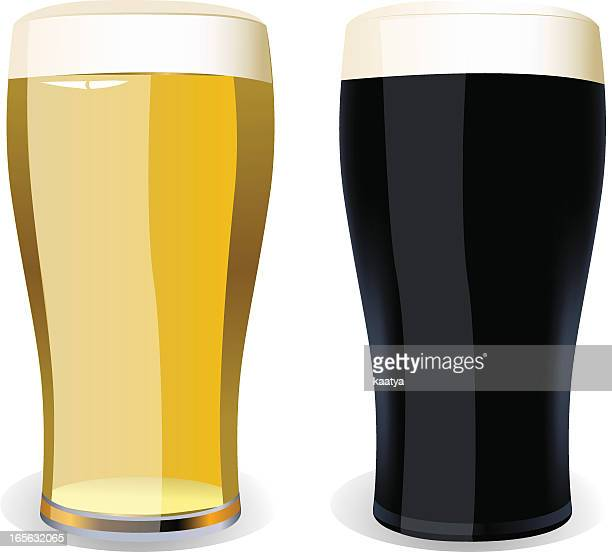 lager and stout - lager stock illustrations, clip art, cartoons, & icons