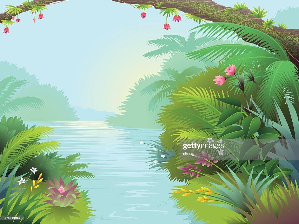 Lagoon : stock illustration