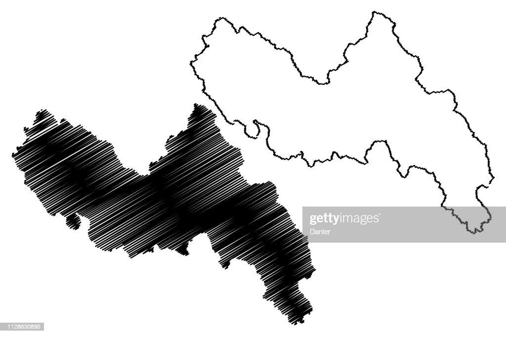 Lai Chau Province map vector