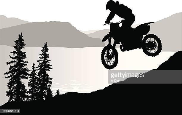 ilustraciones, imágenes clip art, dibujos animados e iconos de stock de lakebiking - motocross