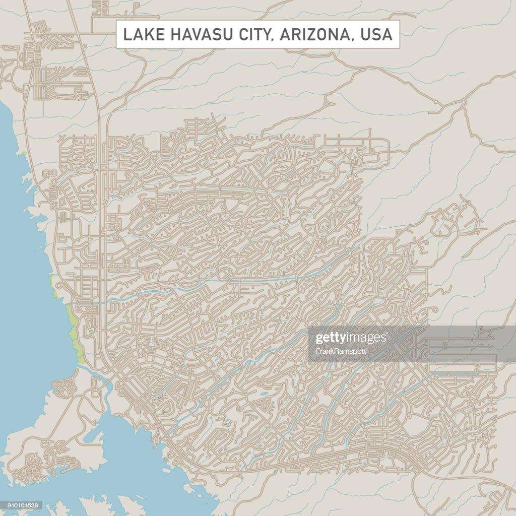 Lake Havasu City Arizona Us City Street Map Vector Art Getty Images