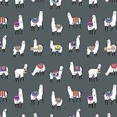 lama animal vector color pattern
