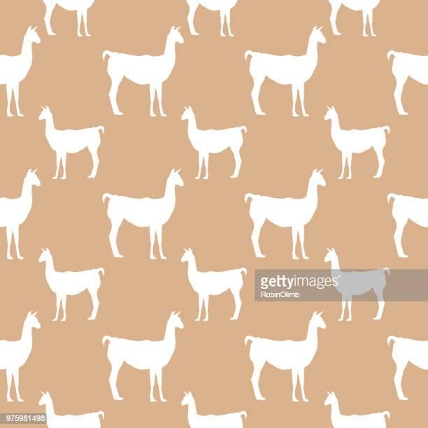 Lamas Seamless Pattern