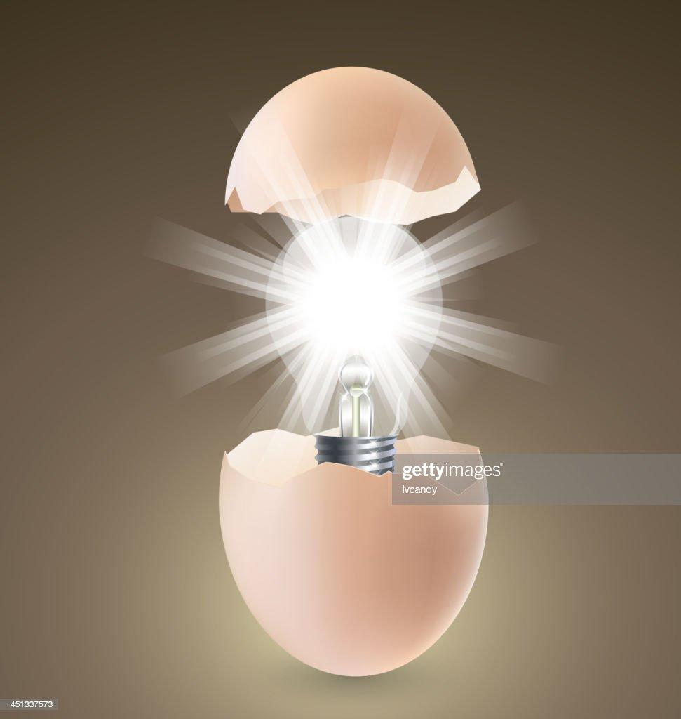 Lamp in egg