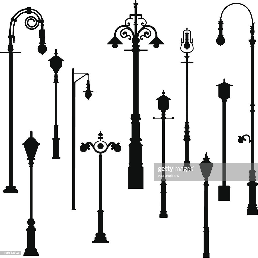 Lamp Light Post Vector Art | Getty Images for Street Lamp Post Vector  76uhy