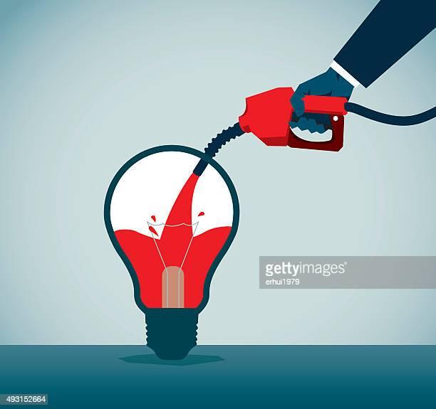 lamp - fuel pump stock illustrations, clip art, cartoons, & icons