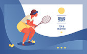 Landing page for tennise court or club
