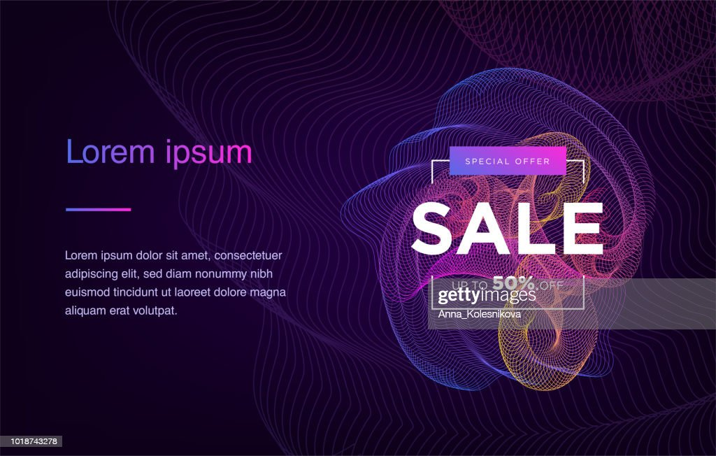 Landing Page. Mock up website. Home Page. Web banner templates. Social media, business app, seo and marketing. Autumn Sale. Big Sale. Neon sign style. Vector illustration