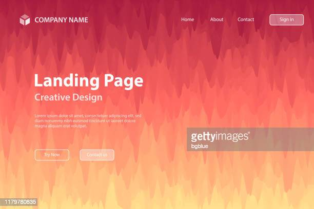 landing page template - abstract background with trendy texture - red gradient - brown background stock illustrations