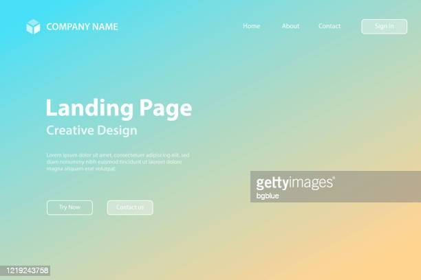 landing page template - abstract blurred background - defocused blue gradient - landing page stock illustrations