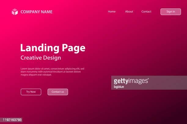 ランディング ページ テンプレート - 抽象的なぼやけた背景 - デフォーカスピンクグラデーション - ピンクの背景点のイラスト素材/クリップアート素材/マンガ素材/アイコン素材