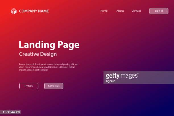 landing page template - abstract blurred background - defocused red gradient - landing page stock illustrations