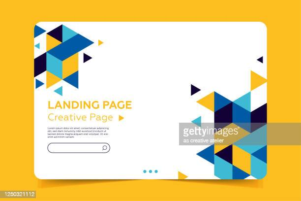 landing page template - abstract design with geometric shapes - landing page stock illustrations