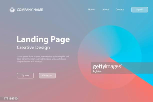 landing page template - abstraktes design mit roter farbverlauf - trendige hintergrund - roter hintergrund stock-grafiken, -clipart, -cartoons und -symbole