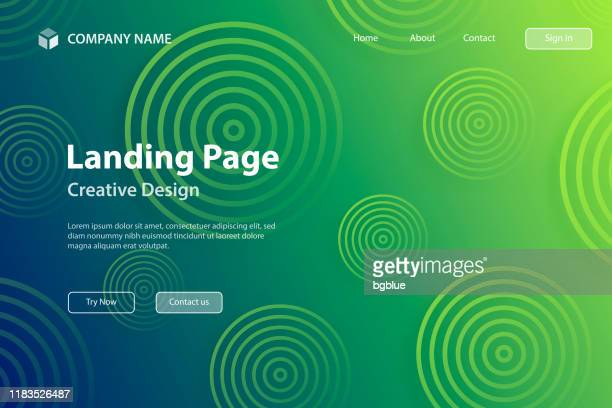 landing page template - abstract gradient background with green circles - landing page stock illustrations