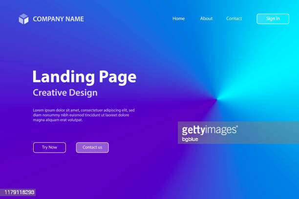 landing page template - blue abstract background with radial gradient - landing page stock illustrations