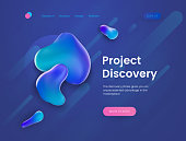 Landing page template for the sites with theme of research, discovery, science and education.