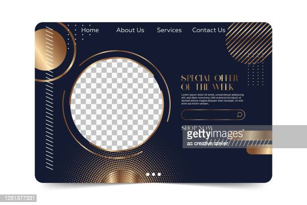 landing page template - modern dark and gold colors minimalist luxury background. - landing page stock illustrations