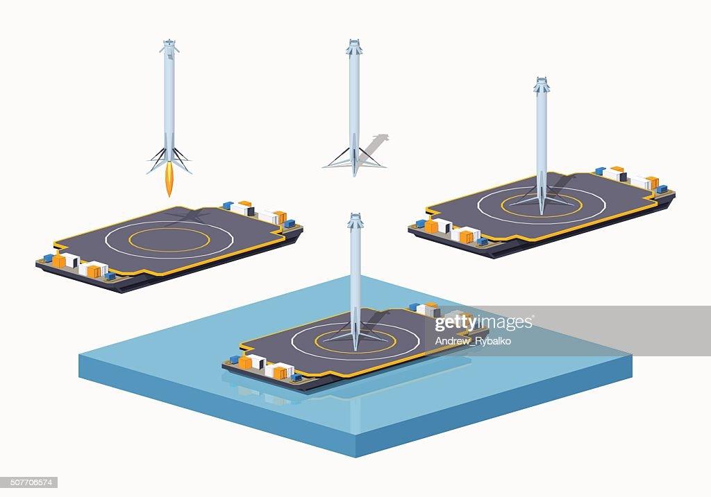 Landing space barge